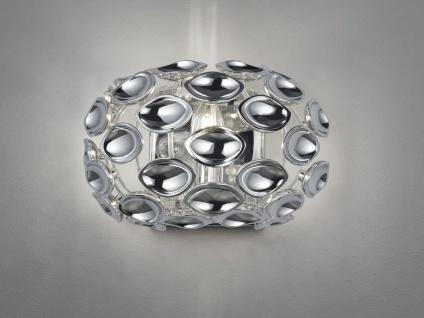 Moderne LED Wandleuchte mit Spiegelapplikationen aus Metall in glänzendem Chrom