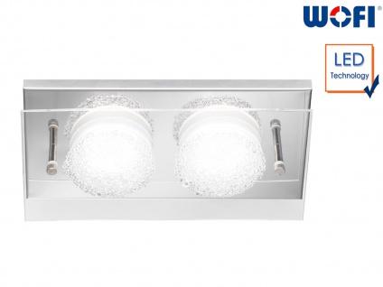 LED Wandleuchte, Chorm mit Kristalloptik 22 x 11, 5cm, Wandlampe Designerlampe