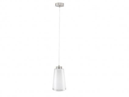 Moderne Pendelleuchte mit LED, Lampenschirm Glas weiß, Leuchtmittel ist dimmbar
