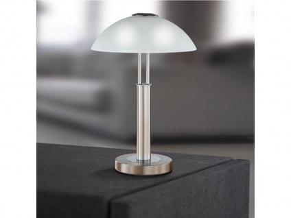 Tischleuchte Nickel matt Höhe 42 cm Touchdimmer Wofi-Leuchten