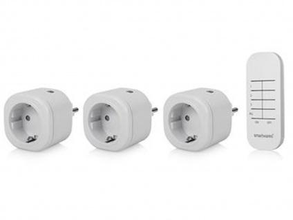 SmartHome Funk Steckdosenset mit Fernbedienung für Leuchten & Geräte bis 3000W