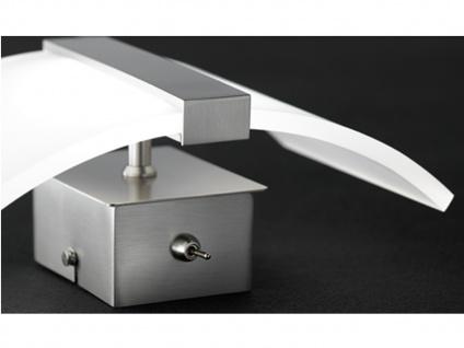 LED Wandleuchte Wandlampe Leuchte Nickel matt Acryl weiß matt CLIP - Vorschau 5