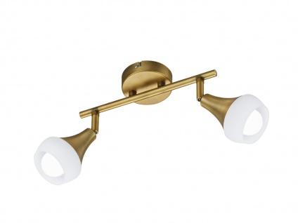 Design Deckenstrahler Metall Alt-Messing, Lampenschirme Glas, Flurlampe, Spots