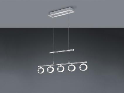 5 flammige Trio LED Pendelleuchte CORLAND in Chrom, dimmbar & höhenverstellbar