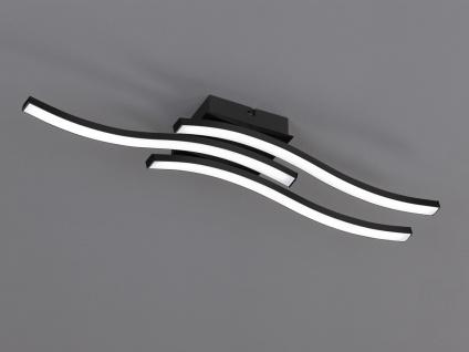 Moderne LED Deckenleuchte ROUTE 3 flammig Metall Schwarz matt 56x12cm