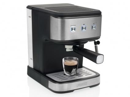 2 Tassen Siebträger Espressomaschine & Kapselmaschine mit Dampf Milchaufschäumer