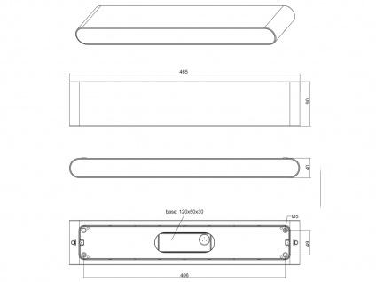 LED Außenwandlampe mit UP and DOWN grau Breite 46, 5cm - moderne Hausbeleuchtung - Vorschau 4
