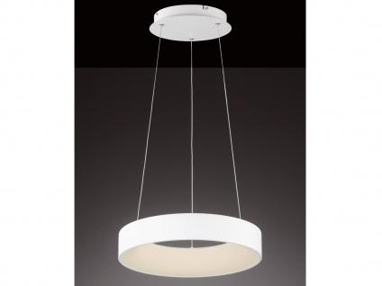 Runde LED Pendelleuchte Lampenschirm weiß - Hängeleuchte für den Esstisch Lampen
