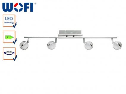 LED Deckenlampe Retro, Spots schwenkbar, Chrom, Wofi-Leuchten