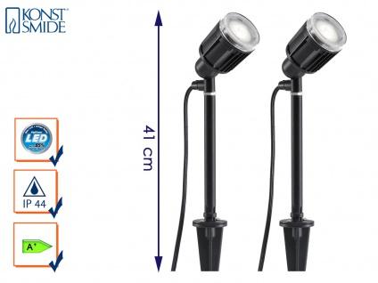 2er-Set LED-Stableuchten Erdspießleuchten Gartenspot Gartenstrahler AMALFI
