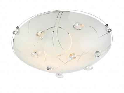 Kleine Deckenschale Glasschirmlampe für Wand und Decke mit fünf deko Kristallen
