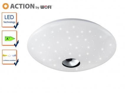 LED Deckenlampe FOCUS 32cm, Farbtemperaturwechsler, Sterneffekt, Deckenleuchten