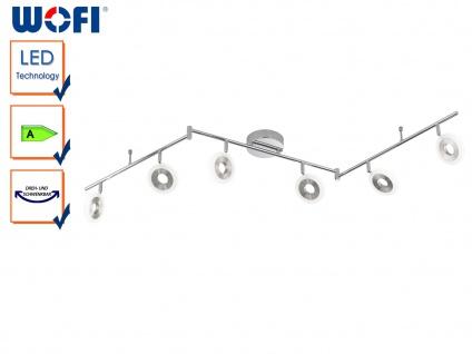 6-flammige LED Deckenleuchte DIVINA, L. 163cm, dimmbar, Deckenlampen Spotleiste - Vorschau 1