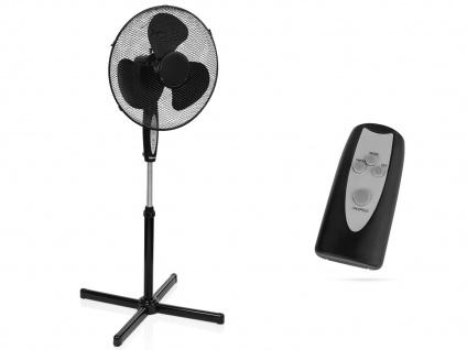 Oszillierender schwarz mit Fernbedienung & Timer Winderzeuger Windmaschine 45W