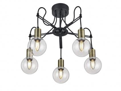 LED Deckenlampe höhenverstellbar bis 45cm in schwarz matt/bronze, Ø 57cm, E14 - Vorschau 2