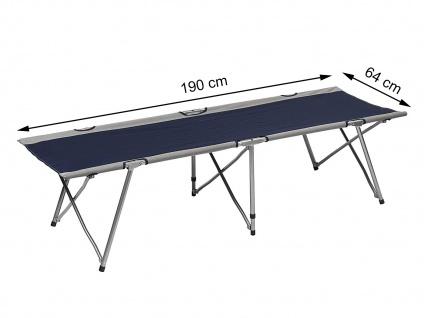 Feldbett Klappbett Campingbett Notbett Gästebett Belastbarkeit: 120 kg Blau