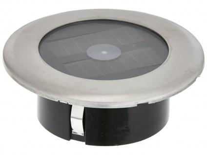 Solar LED-Bodenspot Edelstahl Ø 11cm je Spot bis 100kg belastbar Einbaustrahler