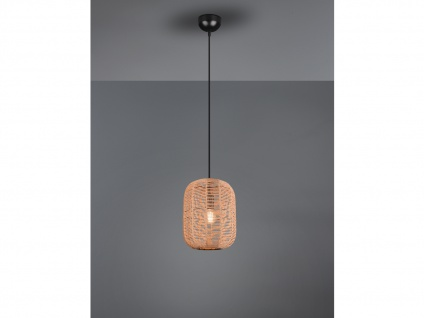 Kleine Lampenschirm Korblampe Pendelleuchte geflochten, Wohnzimmerlampe hängend