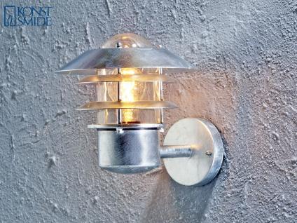Wandleuchte Wandlampe MODENA galvanisierter Stahl, E27, Höhe 24cm IP44 - Vorschau 2