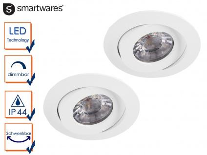 2 LED Einbaustrahler weiß Spot schwenkbar, dimmbar, Deckenstrahler Einbauleuchte