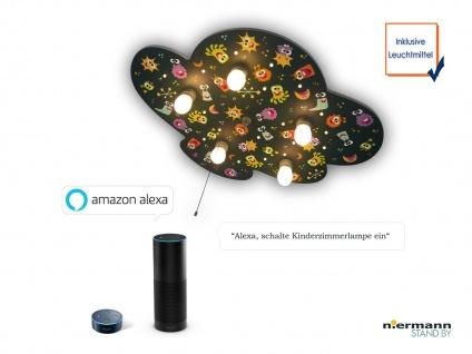 LED Deckenleuchte Kinderzimmer ALIENS LED Schlummerlicht, Amazon Echo kompatibel