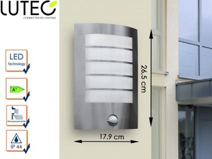 Edelstahl Außenwandleuchte mit Bewegungsmelder LED Wandleuchte Radius 90°