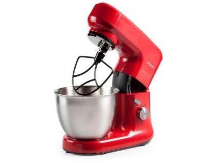 Küchenmaschine rot inkl. 4, 5 L Rührschüssel und Zubehör 700-1200 W