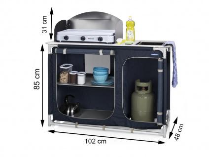 Mobile OUTDOOR Campingküche mit Spüle, Campingschrank faltbar Camper Küchenblock