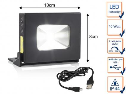 LED Akku Arbeitsleuchte mit Magnet - IP44 Handlampe Fluter als Powerbank nutzbar