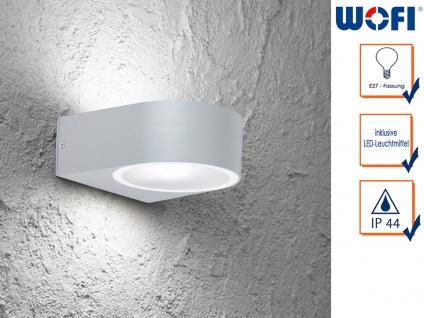 LED Wandleuchte / Außenleuchte Aluminium Höhe 7cm, Fassadenbeleuchtung Haus Weg