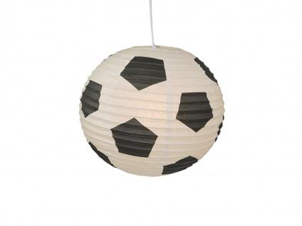 Lampion Kugel Fussball Motiv Ballon Lampe Papier Lampenschirm für Kinderzimmer - Vorschau 3