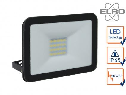 Strahler schwarz Baustrahler 20W LED 5000K Scheinwerfer Arbeitsleuchte Flutlicht