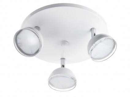 Trio 3 flammiger LED Deckenstrahler BOLOU weiß, Rondell Deckenleuchte Retro - Vorschau 2
