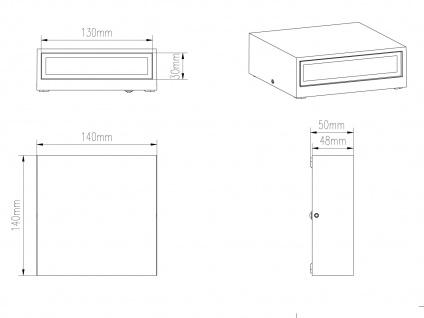 LED Wandleuchte 2er Set für Außen & Innen Anthrazit UP/DOWN Fassadenbeleuchtung - Vorschau 5