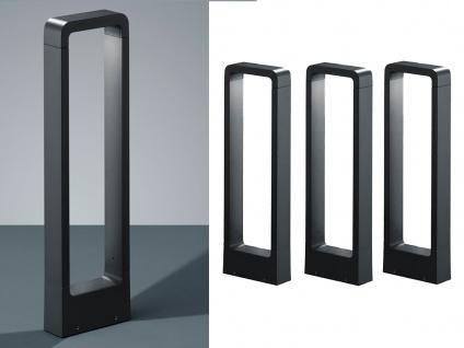 LED Sockelleuchten in Anthrazit 50cm - 3er Set Wegeleuchten Terrassenbeleuchtung