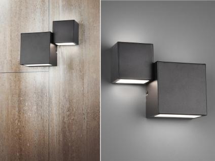 Dimmbare LED Wandlampe 2er Set Up and Down Light Schwarz matt Treppenhausleuchte