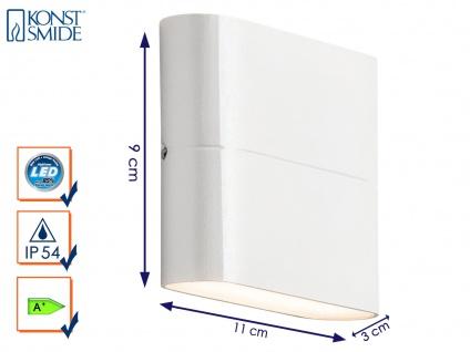 Up-/Down Außenwandleuchte Wandstrahler CHIERI weiß, 6 Watt-LED, 450 Lumen