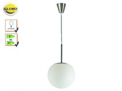 Globo Pendelleuchte BALLA Design Kugel, Glas satiniert Ø 20cm, Flurlampe E27