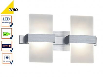 LED Wandleuchte Wandlampe PLATON Aluminium Acryl weiß 30x11cm 2x 4, 5W
