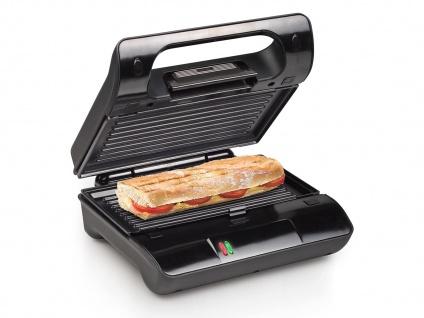 Kontakt Grill Snackmaker auch für Panini & Sandwich mit abnehmbaren Platten - Vorschau 5