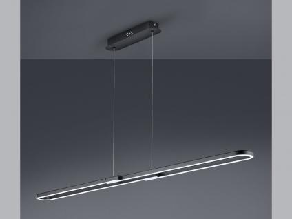 Dimmbare Innenleuchte zum Aufhängen - LED Pendelleuchte aus Metall, schwarz matt