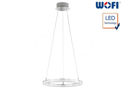 LED Hängeleuchte Ringform Ø 40cm Chrom 24W Desing Pendelleuchte Esstischlampe