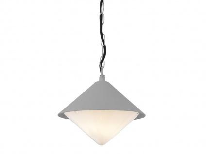Markante Außenleuchte / Gartenlampe als Hängelampe grau, Outdoor, E27 Fassung - Vorschau 2