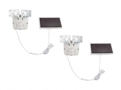 LED Solarleuchten Wandstrahler für Garten mit Bewegungsmelder & Solarpanel, IP44
