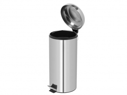 Mülleimer 30 Liter Chrom Treteimer Abfalleimer Abfallsammler Müllsammler - Vorschau 3