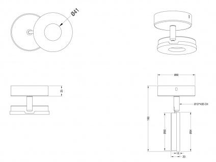 LED Wandstrahler schwenkbar für Innen Chrom mit Lichtspot moderne Wandlampe rund - Vorschau 4