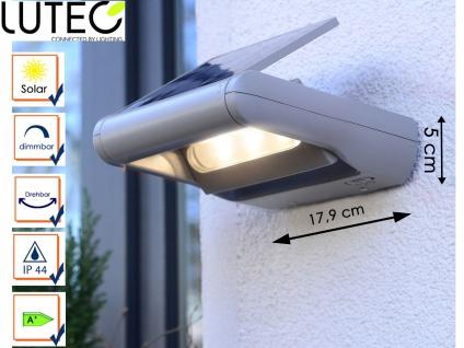 LED Außenwandleuchte Solar dimmbar & drehbar IP44 Solarlampen Gartenlampen