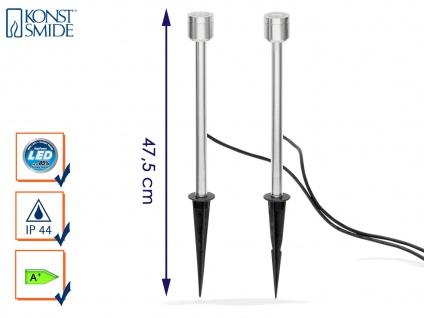 2er-Set LED-Erdspießstrahler / Gartenstrahler MONZA 47cm Aluminium, 3W, IP44