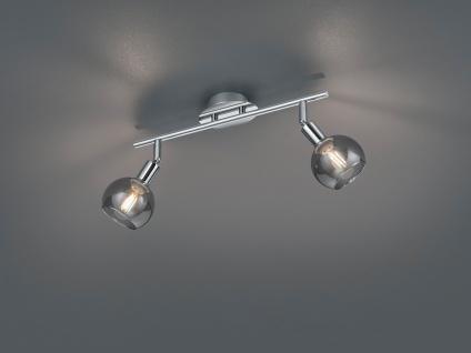 Moderner Wandspot Chrom mit Rauchglas Lampenschirm schwenkbarer Deckenstrahler