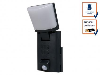 Tragbares LED Outdoor Nachtlicht / Orientierungslicht + Bewegungsmelder schwarz
